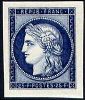 "FRANCE STAMP YVERT N° 831 "" CENTENAIRE TIMBRE 25F BLEU NON DENTELE"" NEUF xx TTB"