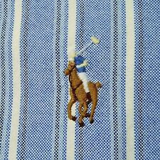 Small Polo Ralph Lauren Classic Fit Long Sleeve Oxford Casual Shirt Blue & White