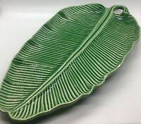"World Market Leaf Platter Dish 14"" Portugal Rare"