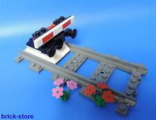 LEGO® Eisenbahn gerade Schiene mit Prellbock Nr.6 / schwarz  mit Puffer