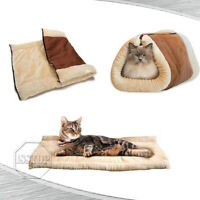 Dog Cat Pet House Sleeping Bed Kennel Puppy Cave Warm Nest Super Soft Mat Pad