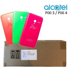 "Genuine Alcatel Pixi 3 4"" Back Battery Cover Hard Slim Tough Case 3 Pack NEW"