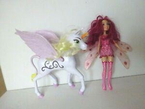 Mattel Mia and Me Puppe + Onchao Einhorn mit Sound und Lichtfunktion