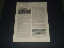 SUNBEAM RAPIER MK 1 SALOON KENLOWE   REPORT MOTORSPORT APRIL 1956