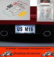 Nummernschilder Set inkl. LED Beleuchtung RC-Car 1:10 Truck Jeep Killerbody KB48