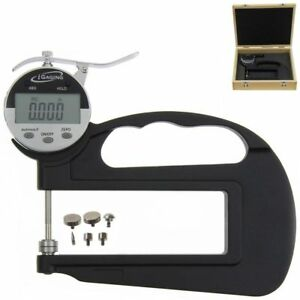 """iGaging Digital Thickness Gauge Deep Throat with 6 Anvils Electronic 1""""/0.0005"""""""
