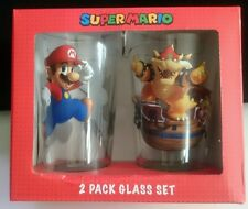 Nintendo Super Mario 2 Pack Glass Set 16 oz