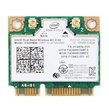 Dual Band 433Mbps Intel AC 3160HMW 2.4G/5GHz + Bluetooth4.0 Mini PCI E WiFi Card
