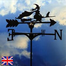 High Quality British Made Witch on a Broomstick Weathervane.(70SB)