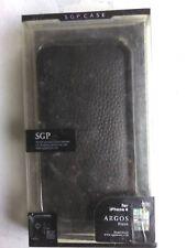 SGP iPhone 4 case... Leather... *New* Argos Black