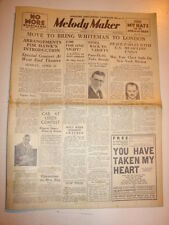 MELODY MAKER 1934 MARCH 31 COLEMAN HAWKINS PAUL WHITEMAN LOUIS ARMSTRONG
