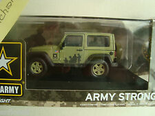 Jeep Wrangler US Army Strong Hard Top Green 1:43 Model 86042 GREEN LIGHT neuve