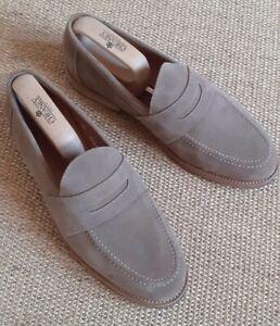 Sunspel beige suede penny loafers shoes boots - UK 10 EU 44 - Mr Porter RRP £355