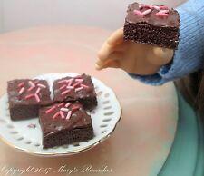 Food for American Girl Dolls 1/3 Scale Miniature Handmade Brownie