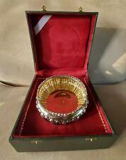 Vtg. 800 Sterling Silver Award Dish Bowl Turkish Defunct Pamukbank History LOOK!