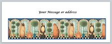 30 Personalized Return Address Labels Cats Buy 3 get 1 free (ct236)