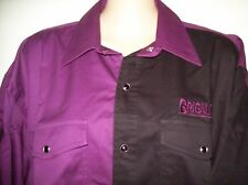 MENS BRIGALOW 2 TONE WESTERN STYLE LS COTTON SHIRT PLUM/BLACK SIZES L- 4XL A/V