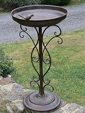 French antique style BIRD FEEDER BIRD bath  BROWN  garden cottage  NEW