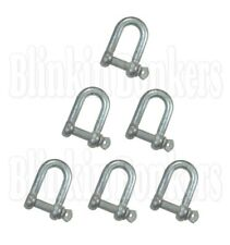 6 ZINC PLATED 8MM RUST RESISTANT MARINE BOAT ROPE D SHACKLE LINK SCREW PIN 37B