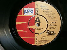 JOHN CHRISTIE Here's to love / old enough to know better EMI 2554 PROMO