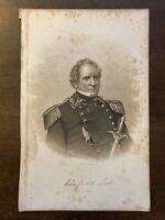 Civil War Army General WINFIELD SCOTT ~ Original Print Engraving c. 1883