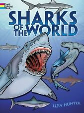Sharks of the World Coloring Book Shark Lover Paperback Adult Art FAST US SHIP
