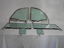 1955 1956 1957 CHEVROLET PONTIAC 2DR CONVERTIBLE 6 PC SIDE GLASS IN CHROME GREEN