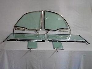 Side Glass Assembly 1955-1957 Chevy Pontiac Convertible Vent Door Quarter Green