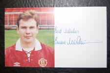 BRIAN McCLAIR  1992/93 SIGNED OFFICIAL MANCHESTER UNITED CLUB CARD LEAGUE CHAMPS