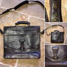 Vintage Hidesign Small Dark Brown Smooth Leather Satchel Messenger Shoulder Bag
