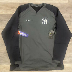 Men's Nike NY Yankees Nike Charcoal/Navy Authentic Collection Therma Sz XL