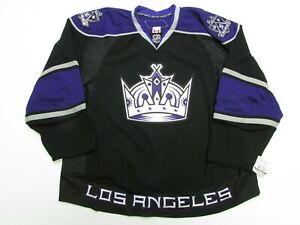 LOS ANGELES KINGS AUTHENTIC BLACK TEAM ISSUED REEBOK EDGE 2.0 7287 JERSEY SZ 58+