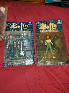 BUFFY ANGEL OZ AND WILLOW ACTION FIGURES MOORE CREATIONS