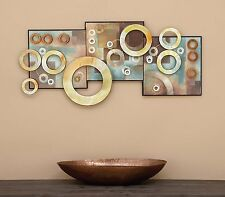 Abstract Metal Multi-Color Wall Art Sculpture Panel Industrial Modern HomeDecor