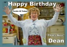 Personalised Birthday card Mrs Browns Boys any name/age/relation