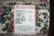 1924 / 25 Reklame Werbung 1 / BBC Brown Boveri Mannheim Bergbau