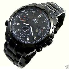 Imported Sports Edifice EF 535BK 1A, Full Black Chronograph Watch for Men