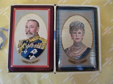 Vintage PLAYING CARDS,1935,KING GEORGE V & QUEEN MARY,Silver Jubilee,Orig.Box