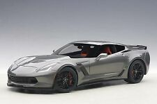1/18 AUTOart CHEVROLET CORVETTE C7 Z06 (DARK SILVER / Black Rims ) 2014