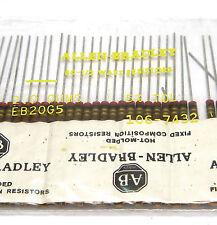 50x Allen Bradley Widerstand, 2 Ohm / 0.5 W, Vintage Tube Amp Resistors, NOS