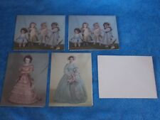 Set Of 4 New Vintage Das Antique Doll Pictured Note Cards