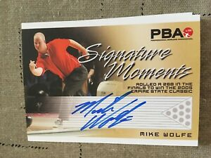 2007 PBA Bowling Signature Moments Autograph Mike Wolfe