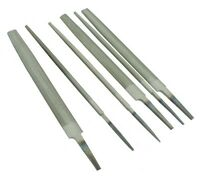 """Set of 6 Engineers Files 12"""" 300mm Bastard 2nd Cut Smooth Various Shapes F9976"""