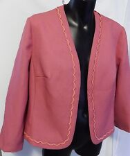 EASTEX 60's STYLE TAYLORED PINK VINTAGE SPRING JACKET SIZE 14 MADE IN ENGLAND