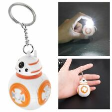 Star Wars Keychain BB8 Figure Key Chain Key Ring Light Up Jewelry Charms Gifts