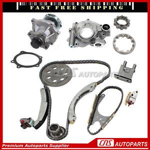 Timing Chain Water + Oil Pump Set Fits 07-11 Chevrolet GMC Isuzu 2.9L 3.7L DOHC