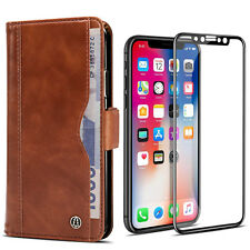 For iPhone Xs X 8 7Plus Wallet Cards Slot Case Leather Shockproof Magnetic Cover