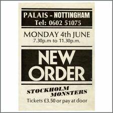 New Order 1984 Nottingham Palais Concert Handbill (UK)