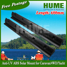 680mm Black  Solar Panel Mounting Bracket Caravan Motorhome Boat 2 for 1set
