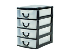 Small Plastic Drawers Storage Draw Tower Table Mini Desktop Office Home School